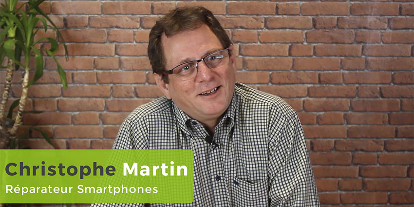 Réparateur smartphone Senlis, portrait Captain Repair de Christophe Martin